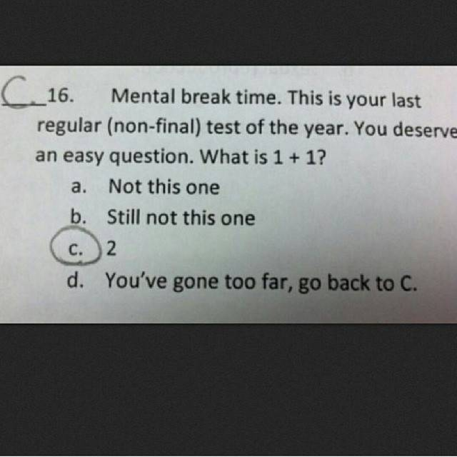 multiplechoice exam test funny