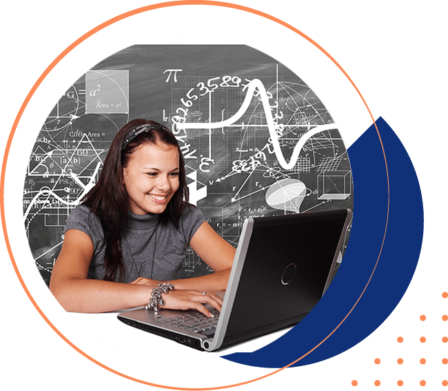 Girl student attending free online classes