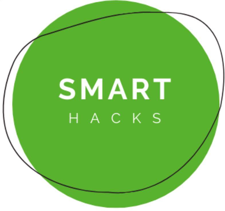 smart hacks logo white background